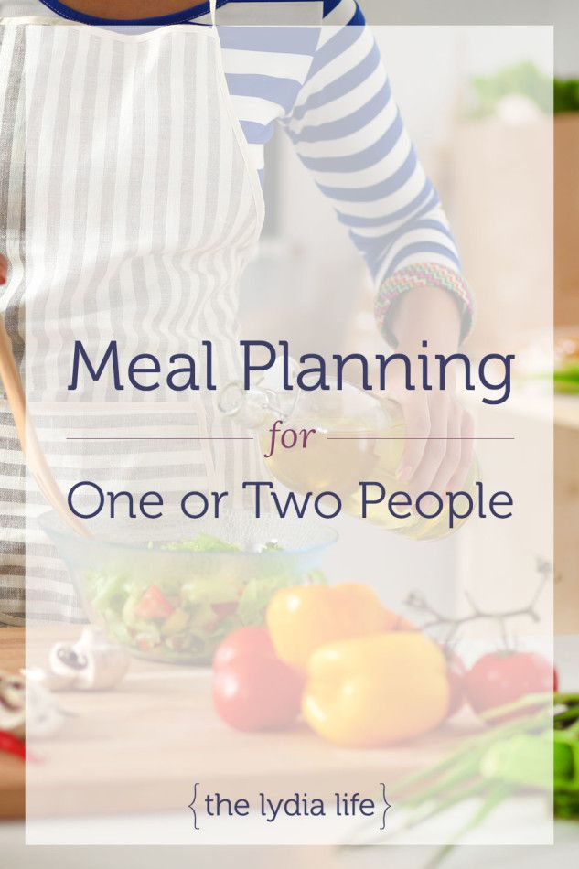 Meal Planning for One or Two People - via @thelydialife