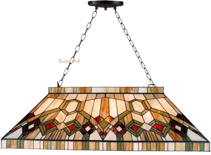 5287 Hanglamp Tiffany B92cm  Biljart model Imperial
