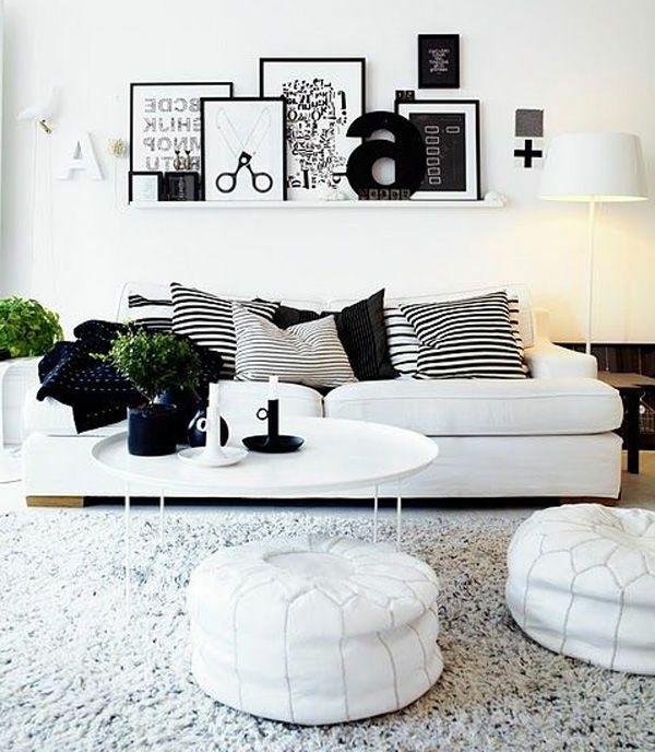 23 Inspirierend Dekoration Wohnzimmer Schwarz Weiß | Living ...