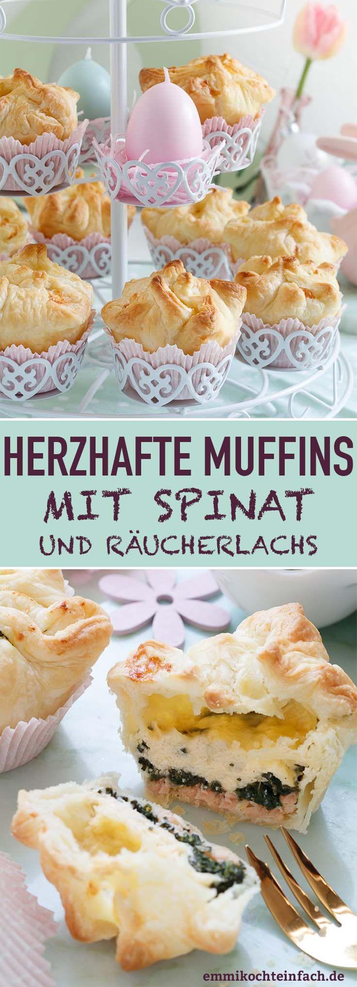 Herzhafte Muffins mit Spinat und Räucherlachs – emmikochteinfach – einfache Rezepte: Kochen, Backen für Familie und Alltag