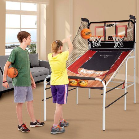 "Value Bundle ESPN 2 Player Basketball Game and ESPN 60"" Air-Powered Hockey Table - Walmart.com"
