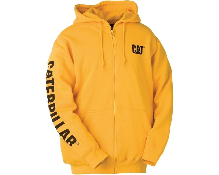 This hooded CAT sweatshirt is a true classic, and integrates bold colours with a smart, casual look that'll have the desired effect every time. Wear this one indoors or out, and count on its 80% cotton/20% polyester fleece keeping you warm. The sweatshirt is ideal for lazy lounging or fervent working. Style is imparted by CAT's immediately recognisable logo situated on the chest and the full brand emblazoned along the right arm.