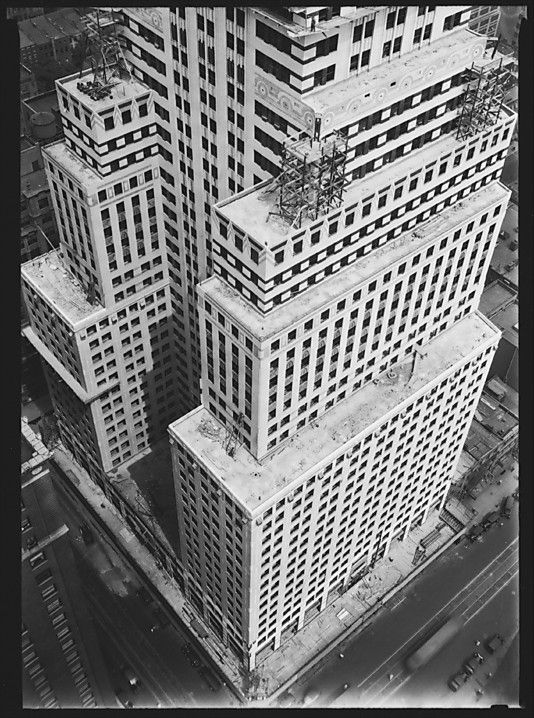 Walker EVANS :: Chrysler Building Construction, From Roof of Chanin Building, New York City, 1929
