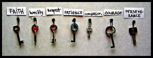 Faith, Humility, Respect, Patience, Compassion, Courage, Perseverance...The Keys