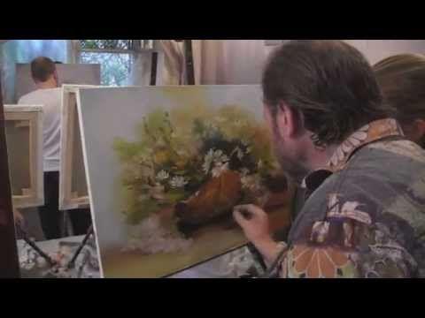 """Видеоурок Сахарова """"Как научиться рисовать ромашки"""" живопись для начинающих…"""