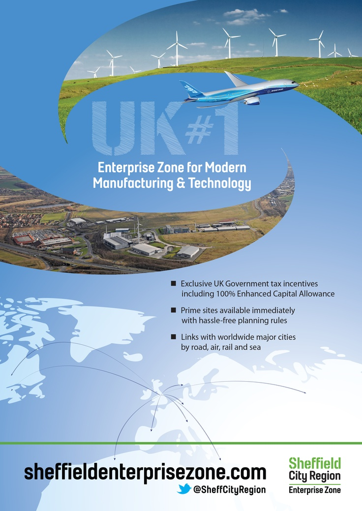 This Enterprise Zone advert featured in the 2012 edition of British American Trade & Investment, a handbook for companies investing in the United Kingdom.