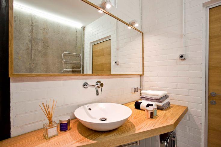 Бетон в интерьере креативной квартиры: ванная комната
