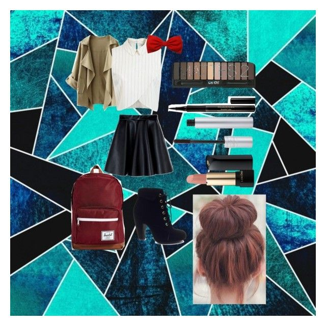 """Back2School Outfit{Wednesday}"" by secretkkpm on Polyvore featuring Sheridan, Bamboo, Miss Selfridge, MSGM, Herschel Supply Co., Lancôme, Elizabeth Arden and T. LeClerc"