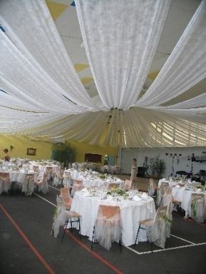 17 best images about voile d 39 hivernage on pinterest photos led and deco - Deco plafond mariage ...