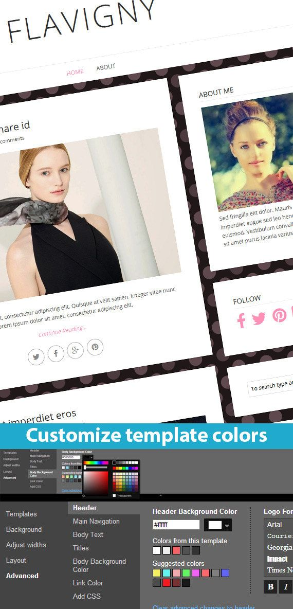 Etsy Blogger Template called Flavigny by BloggerTemplate