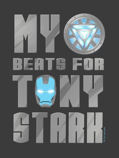<3 my heart beats for tony stark
