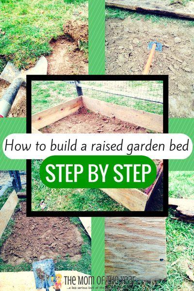 Step Step Raised Vegetable Garden
