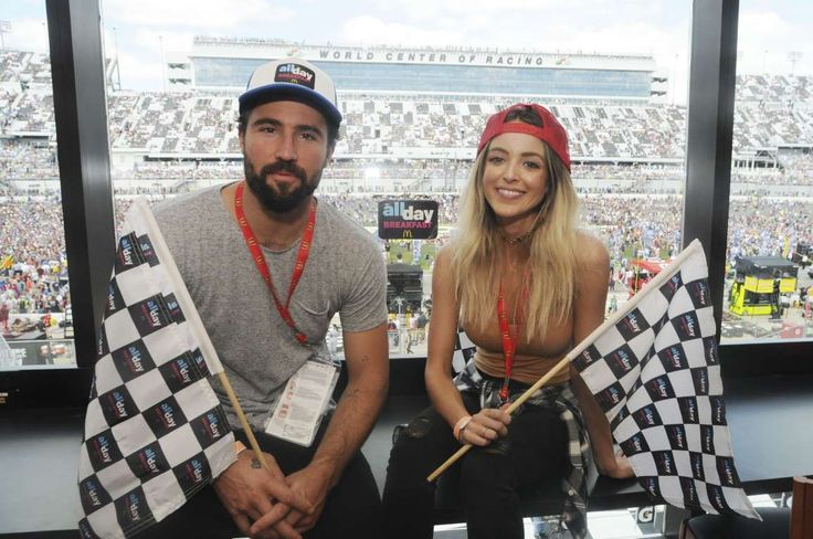 Celeb photos of 2016:      Brody Jenner and Kaitlynn Carter watch the Daytona 500 from the McDonald's All Day Breakfast Lounge at Daytona International Speedway in Florida on Feb. 21, 2016.