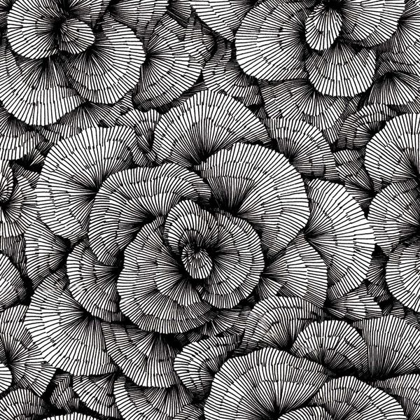 Amazing hand-drawn organic patterns by Vasilj Godzh, via Behance.