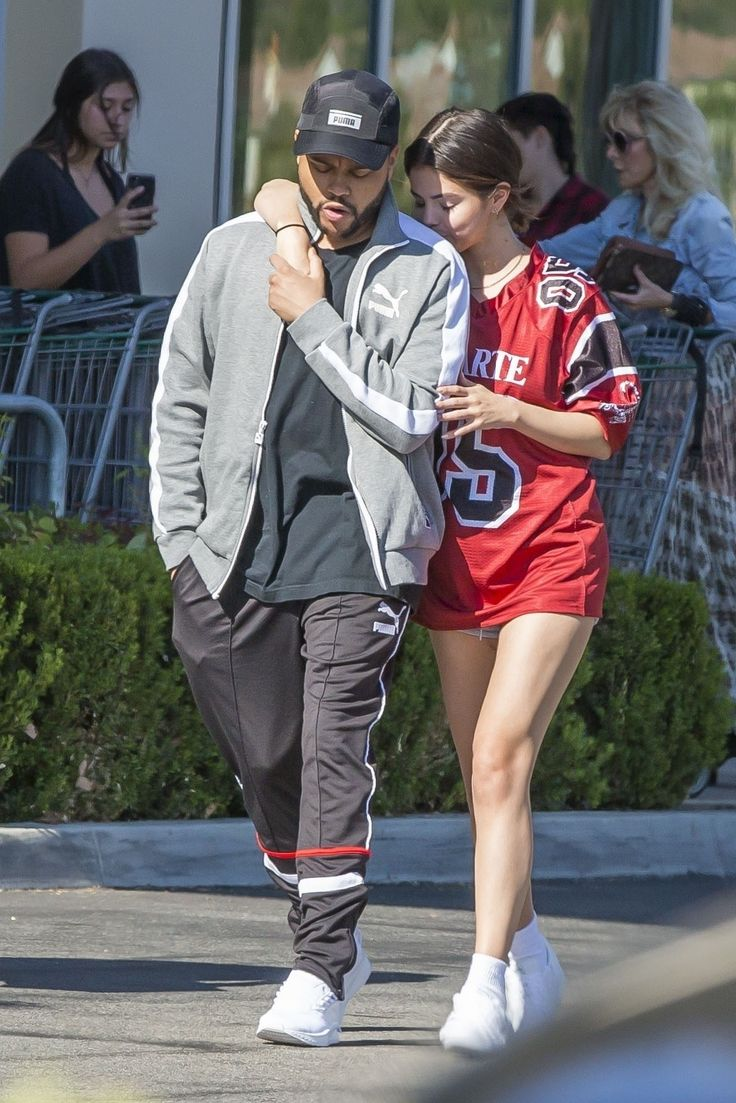 Selena Gomez wears Rodarte while with The Weeknd. August 22, 2017.