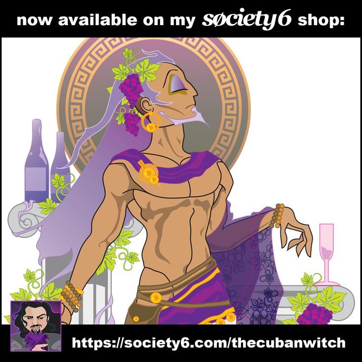 """""""Dionysus"""" is now available over at my #Society6 Shop: (https://society6.com/thecubanwitch) #sharemysociety6 #dionysus #bacchus #wine #winemaking #vine #vineyard #grapes"""