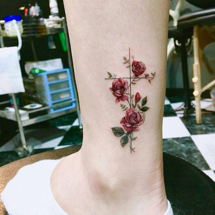 Flowers tattoo by Tiny Tatts