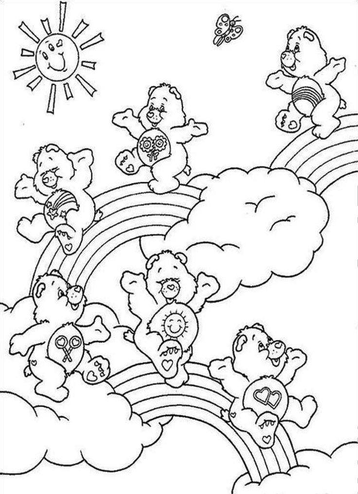 242 best images about crafty 80 s care bears coloring on