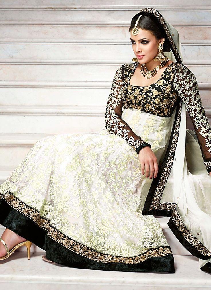 Salwar kameez black and white dresses