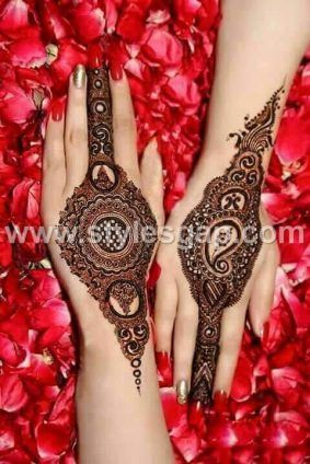 Latest Bridal Mehndi Designs Collection 2017 2018 For Wedding Brides