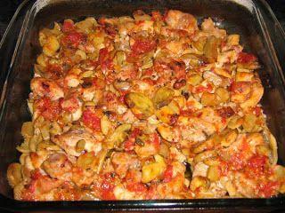 Pulpe de pui cu ciuperci la cuptor si mamaliguta