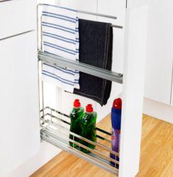 linea 150mm base unit pullout shelf basket u0026 towel rail supplier