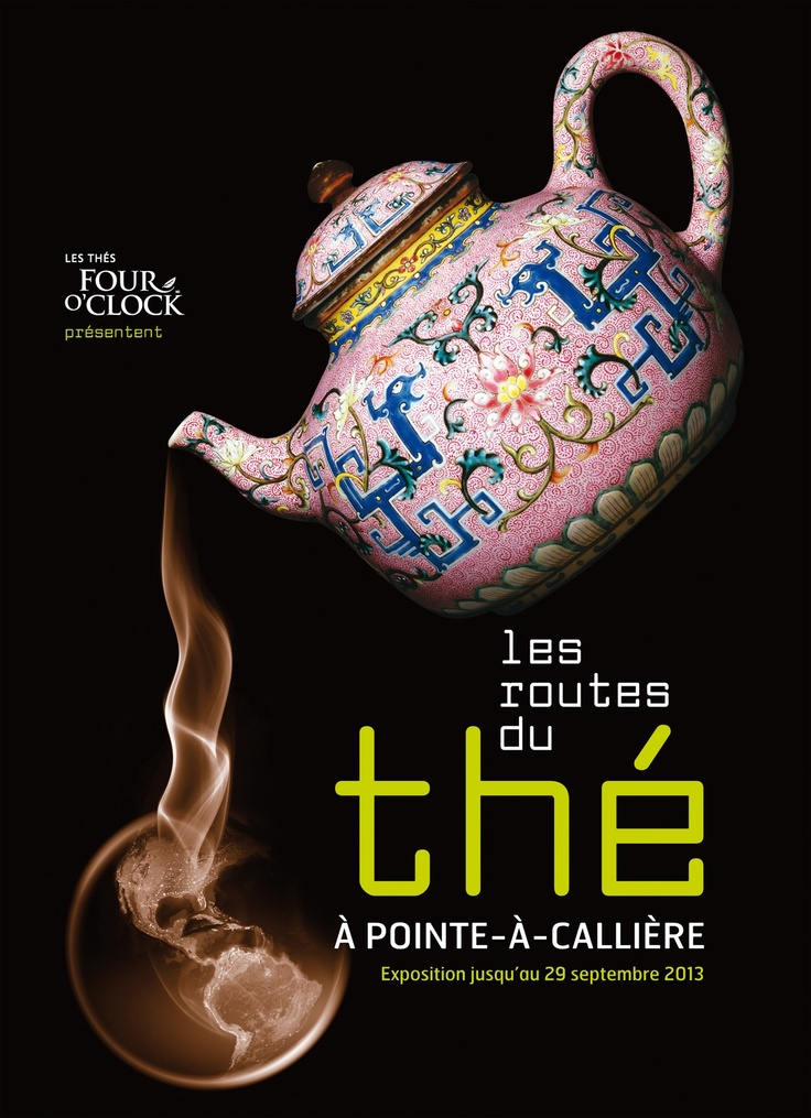 Les Routes du thé, 2013 | © Design: Dominique Boudrias, Pointe-à-Callière