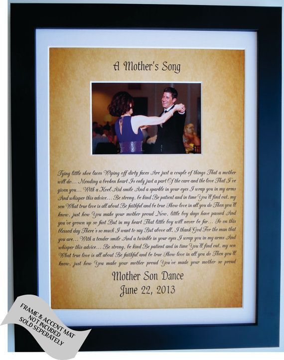 Personalized Gift For Son From Mother To Groom From Mom Mother Son Gift Poem Dance Song Quote