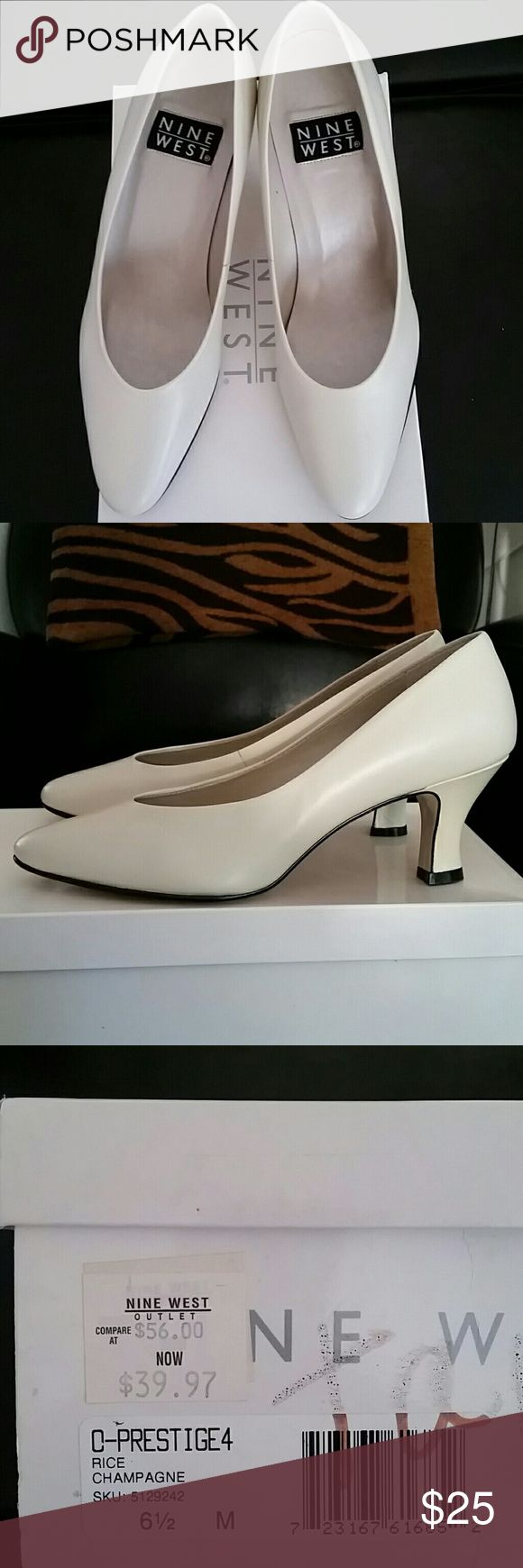 "Nine West cream pumps Nine West cream colored pumps.  Never worn.  Still in the box.  2 3/4"" heel. Nine West Shoes Heels"