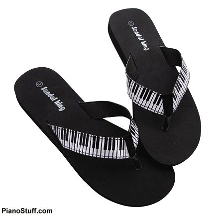 Piano flip flops. Gotta have these before we go to Florida.