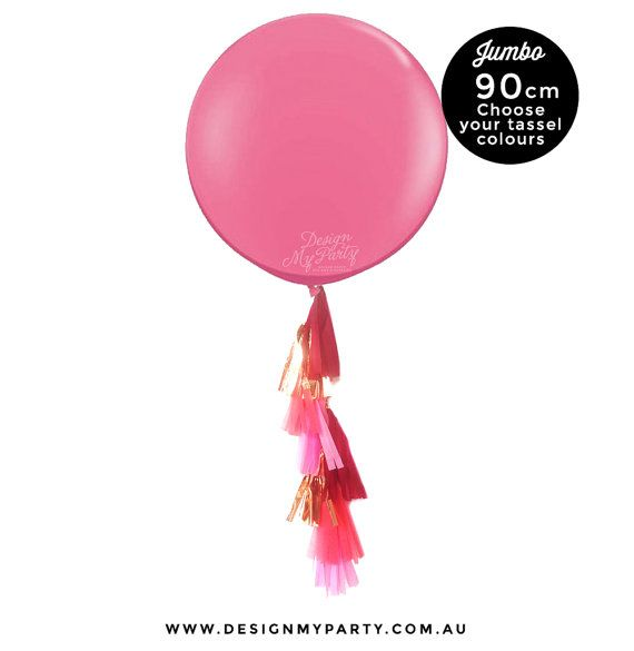 Sunset Glam  Jumbo Balloon 90CM with Tassel  by DesignMyPartyShop
