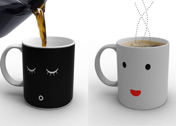 Heat Sensitive Mug Needs Its Coffee In The Morning