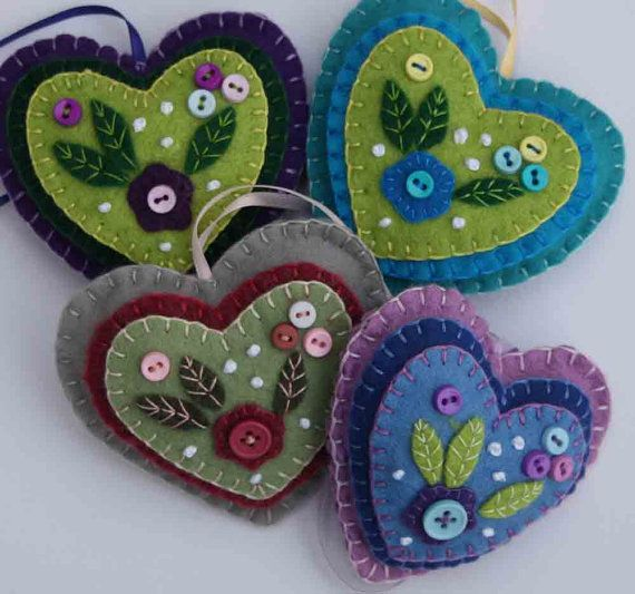 These are super cute. I love the color combos. Bright colors, little hearts with layers of bright glazes - the colors would be great for ceramic beads.