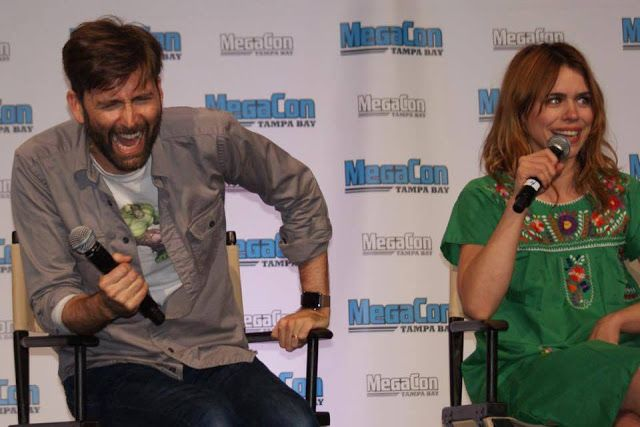 PHOTOS: David Tennant & Billie Piper At MegaCon Tampa Bay        We're delighted to be able to share with you a batch of amazing photos taken during David Tennant and Billie Piper's panel at MegaCon ...