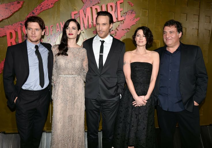 """""""300: Rise Of An Empire"""" to be released on March 7, 2014: Photo (From Lest to Right) Actors Jack O'Connell, Eva Green, Callan Mulvey, Lena Headey and director Noam Murro attend the premiere of Warner Bros. Pictures and Legendary Pictures' """"300: Rise Of An Empire"""" at TCL Chinese Theatre in Hollywood, California."""