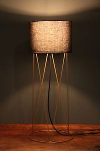 Geometric Black Bronze Floor Lamp Stand AND Shade Table Lighting Wire ART Deco | eBay