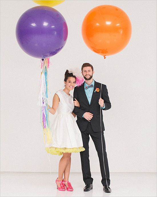 giant balloons at wedding
