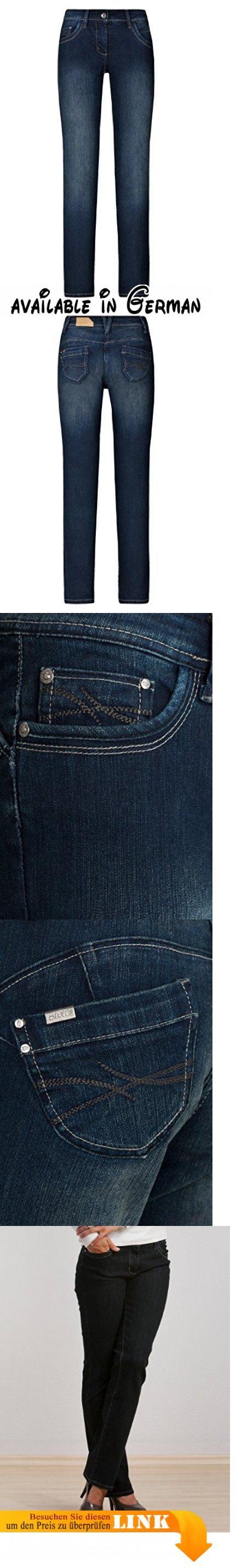 MillionX Damen Jeans Hose Victoria 'Bauch weg-push up' 8721125-902 dark blue, Farbe:902 dark blue;Größe:W38/L34. Material 78% Baumwolle, 20% Polyester, 2% Elastan #Apparel #PANTS