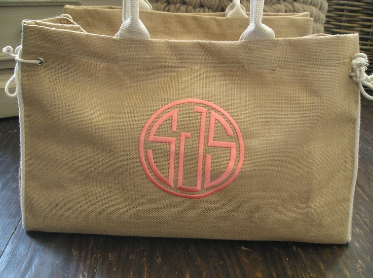 Burlap tote with ties for her gifts fashion for Decorative burlap bags