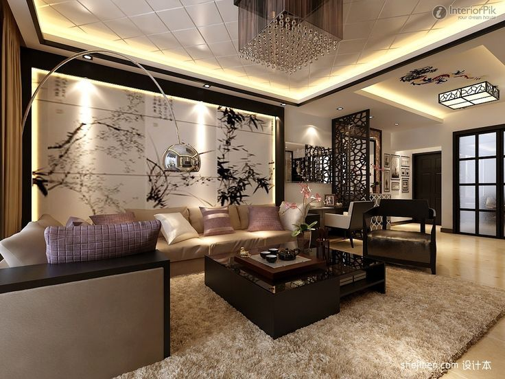 Living Room Lovely Modern Chinese Style Cottage Decoration Clical Decor Ideas Furniture