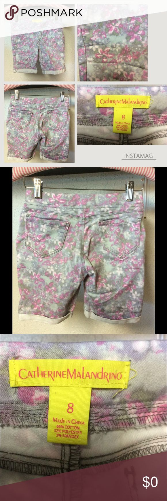 Catherine Malandrino Shorts Cotton polyester spandex blend floral shorts. Gently used. Catherine Malandrino Bottoms Shorts