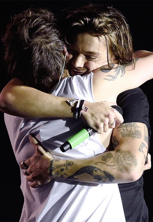 This honestly makes me so happy we don't ever get to see Louis and harry hugging lately cuz of all the stupid Larry shippers