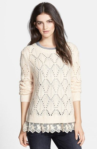 Hinge Ruffle Hem Sweater available at #Nordstrom