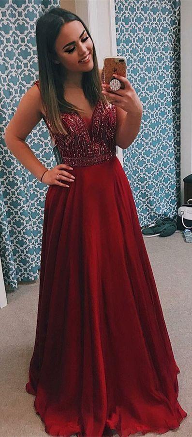 b7c62e17f22 elegant burgundy elastic satin prom dress with beading