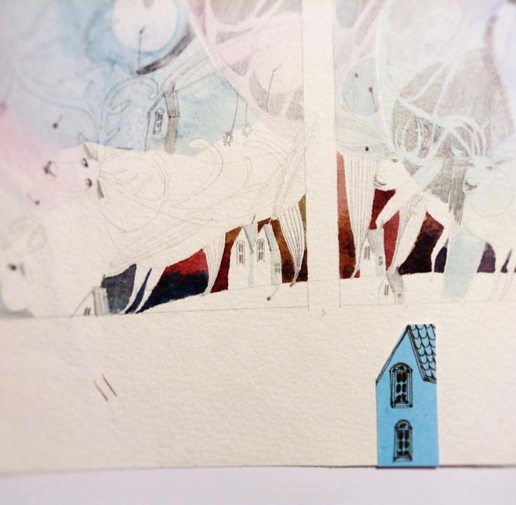 Давно забуті приємності ❄️ #teawithrosejam #draw #sketch #winter #watercolor