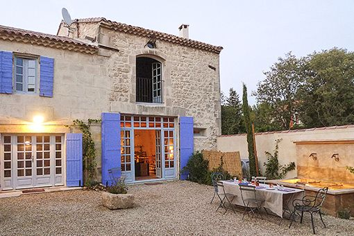 We love the purple shutters at Provence Farmhouse, Provence, France. The perfect spot for a spring getaway.