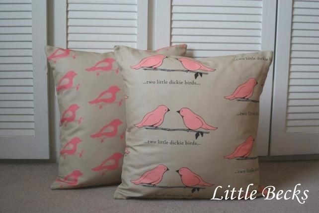 Two Little Dickie Birds Cushion £39.95