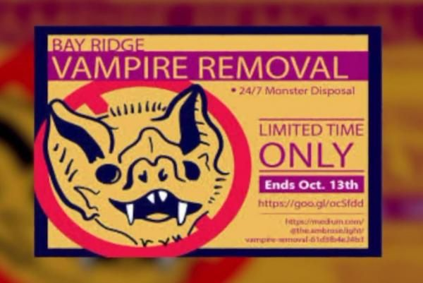 'Vampire Removal' ads in New York promote voter registration