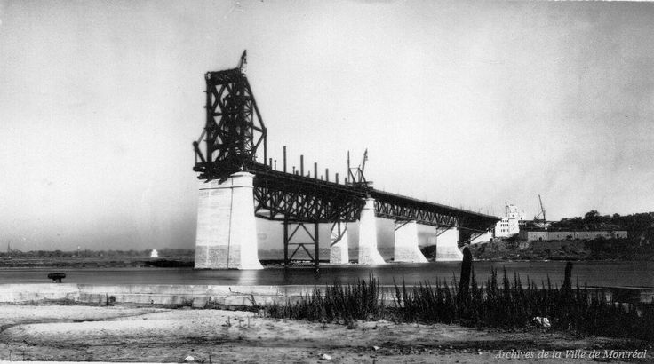 Construction du pont Jacques-Cartier, 1928, Montreal 20 photos qui font revivre lhistoire de Montréal (PHOTOS)