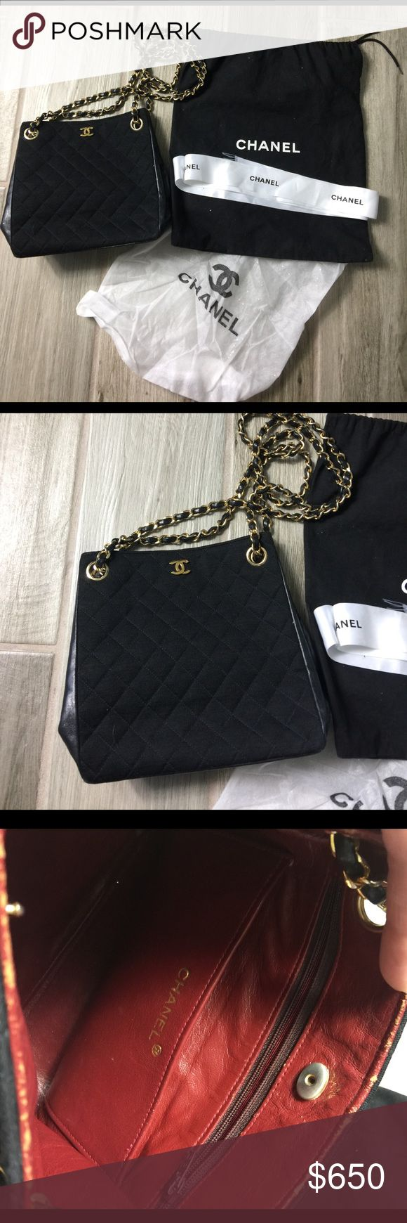 Vintage Authentic Chanel Shoulder Bag Vintage Authentic Chanel Shoulder Bag with serial number located on the interior. A little , little tear on the inside pocket , barely noticeable. Everything is in great used condition. Comes with dust bag. CHANEL Bags Shoulder Bags